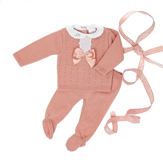 Dusty Pink Knitted Two Piece