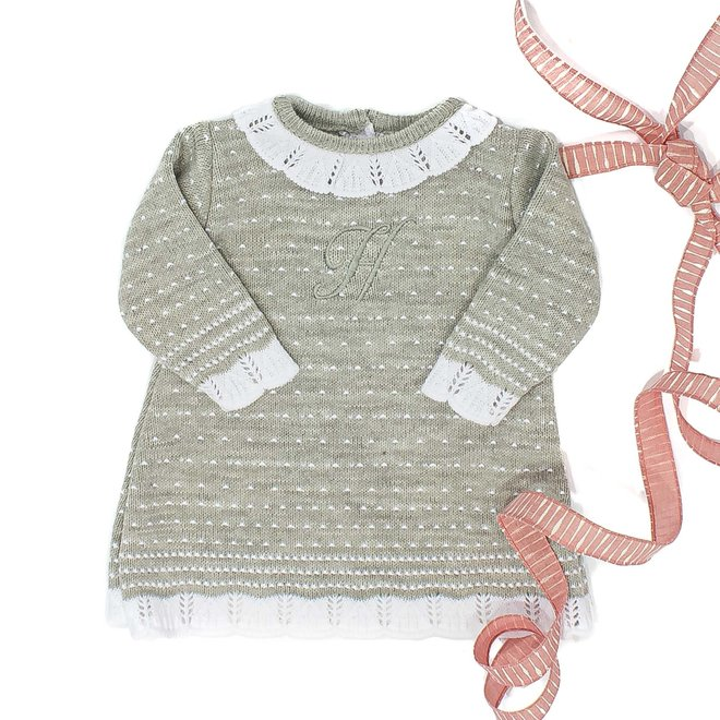 Personalised Grey Knitted Dress