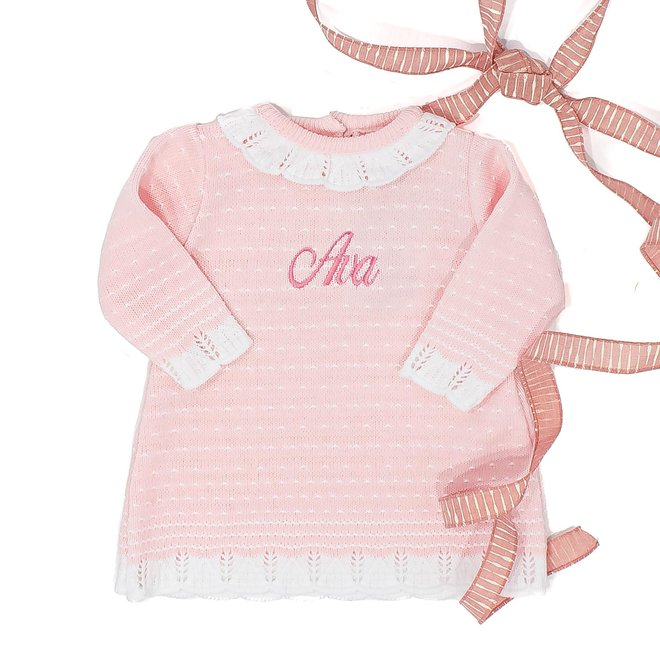 Personalised Pink Knitted Dress