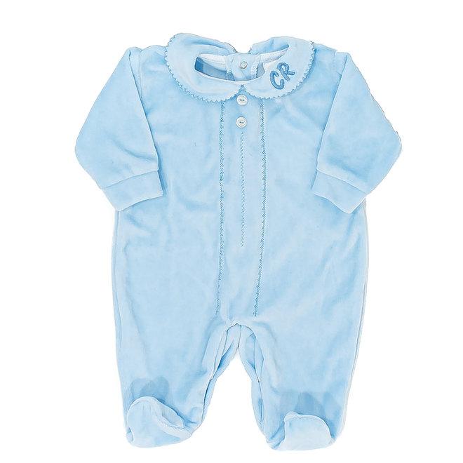 Personalised Blue Sleepsuit Baby Grow