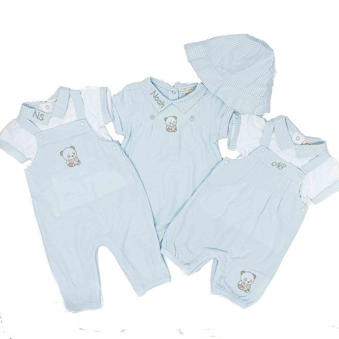 Personalised Baby Boy Dungaree and Top Set