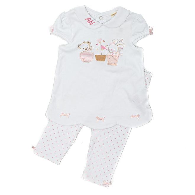 Personalised Baby Girl Bunny Dress With Leggings
