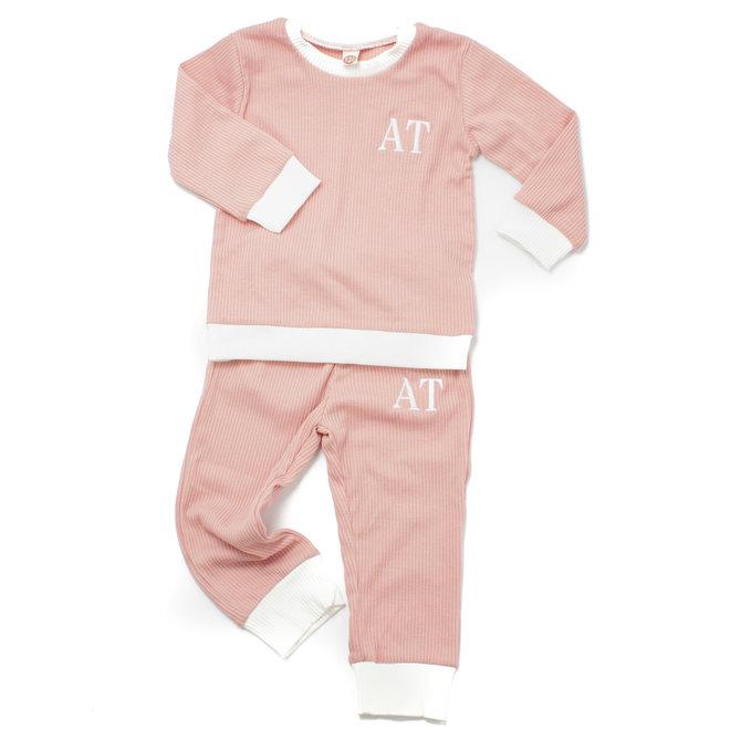 Personalised Baby & Kids Pink Loungewear Tracksuit