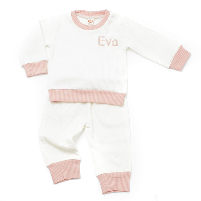 Personalised Baby & Kids White Loungewear Tracksuit
