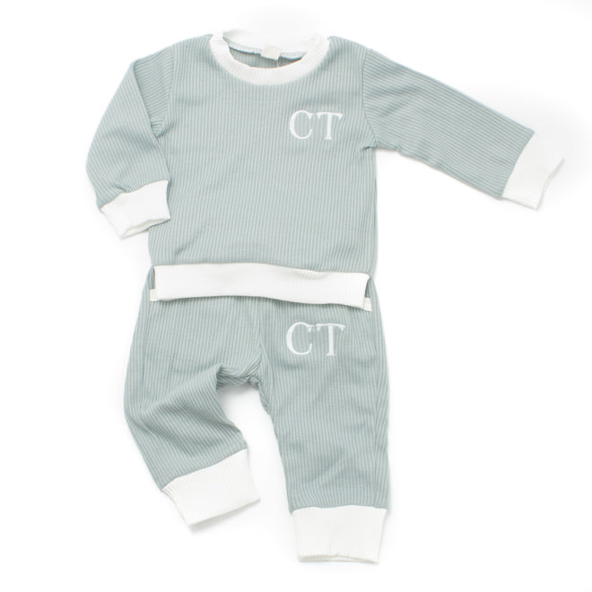 Personalised Baby & Kids Blue Loungewear Tracksuit