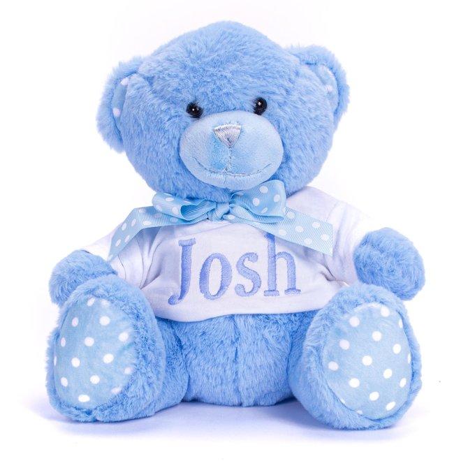 Personalised Blue Teddy Bear
