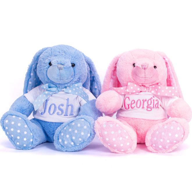 Personalised Blue Bunny Teddy Bear
