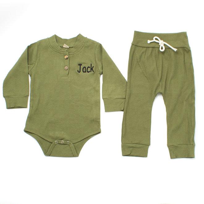 Personalised Baby & Kids Khaki Loungewear