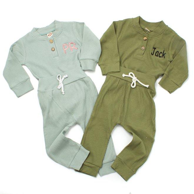 Personalised Baby & Kids Khaki Tracksuit