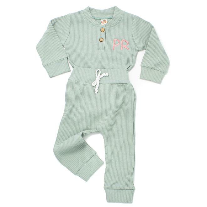 Personalised Baby & Kids Green Loungewear