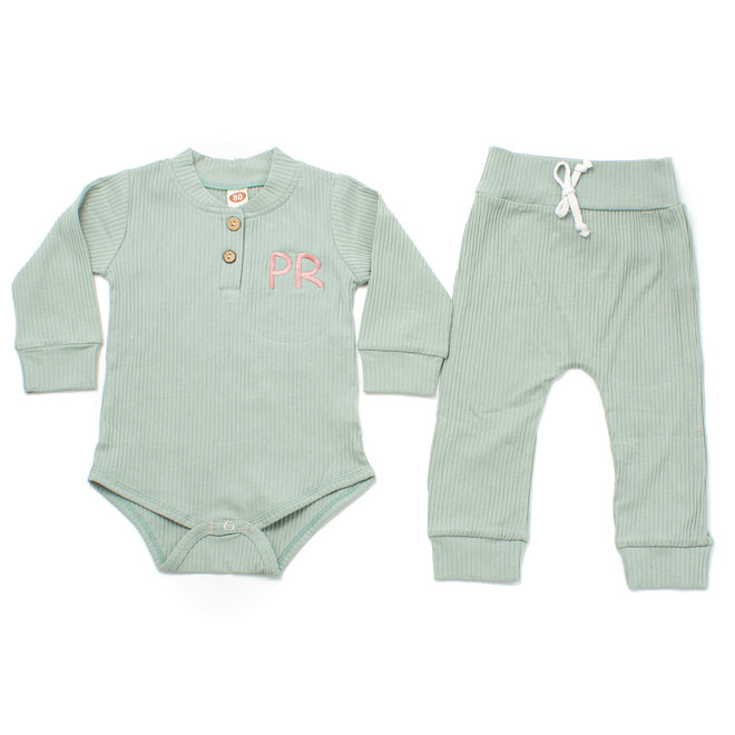 Personalised Baby & Kids Green Tracksuit
