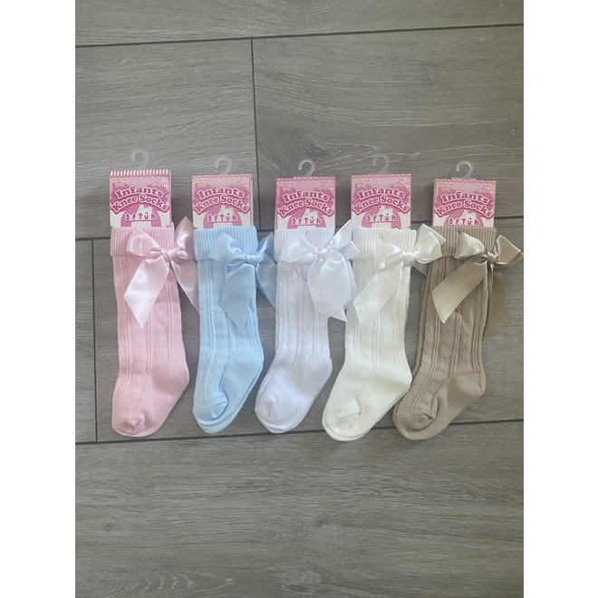 Knee High Bow Baby Socks