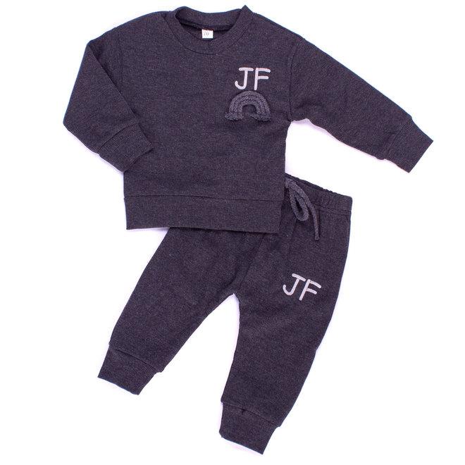 Dark Grey Rainbow Baby & Kids Loungewear Set