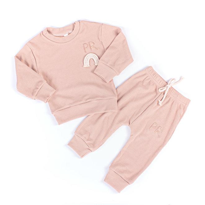 Apricot Rainbow Baby & Kids Loungewear Set