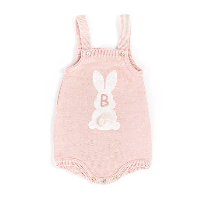 Baby Girl Dusty Pink Bunny Romper