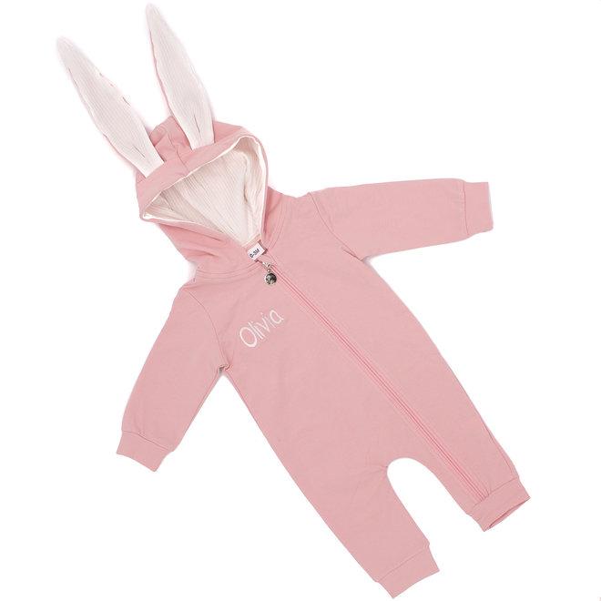 Personalised Baby Bunny Ears Jumpsuit Babygrow