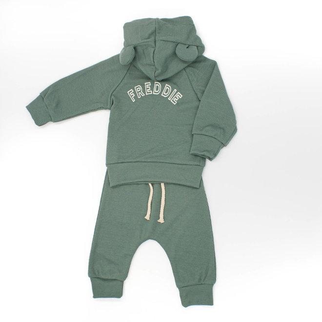 Green Baby & Kids Loungewear Set With Ears