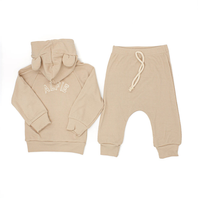 Personalised Apricot Baby & Kids Loungewear Set With Ears