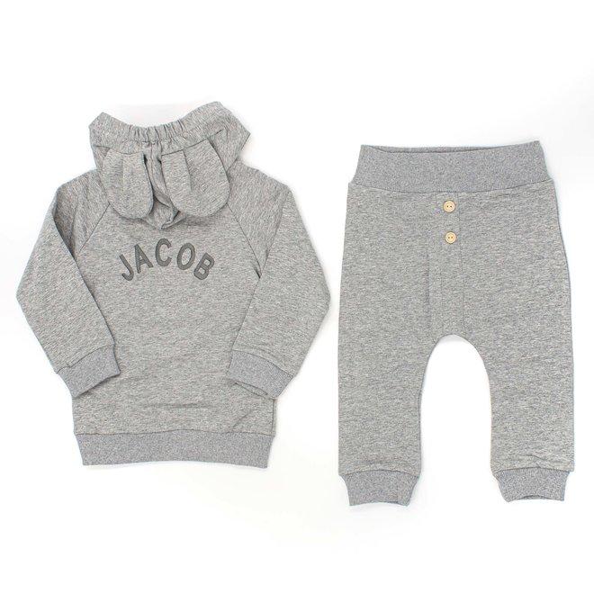 Grey Baby & Kids Loungewear Set With Ears