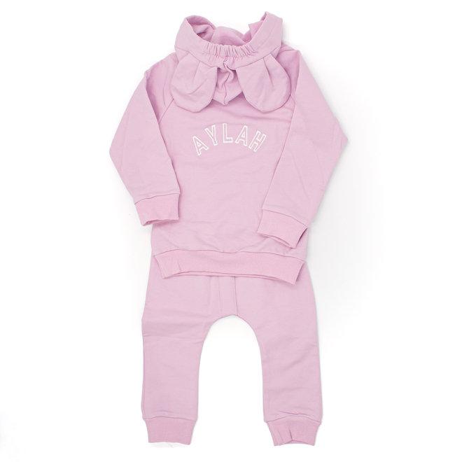 Pink Baby & Kids Loungewear Set With Ears
