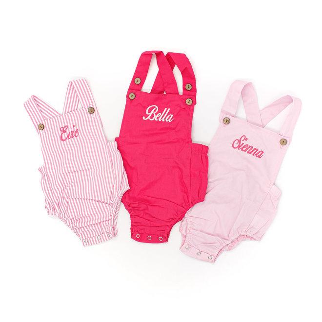 Personalised Baby Girl Rompers