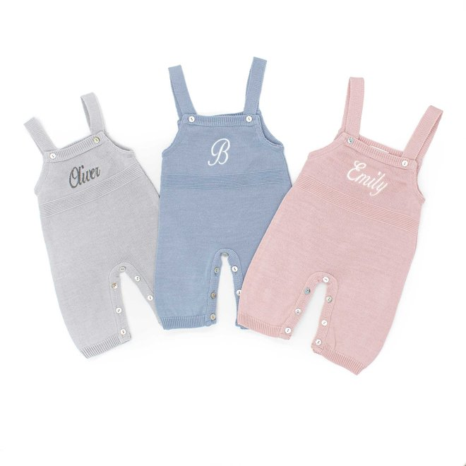 Baby Boy & Girl Knitted Dungarees