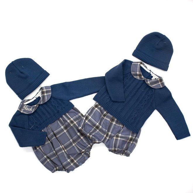 Dusty Blue Tartan Boys Outfit