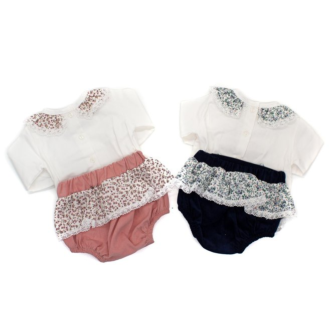 Personalised Floral Bow Jam Pants & Top