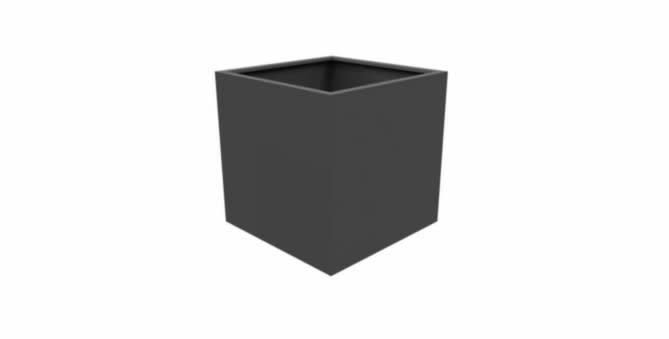 Pottenland Aluminium Vierkant