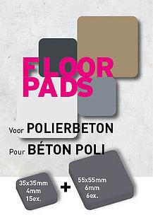 Pot-Pads Flore Pads Polier Beton Zelfklevend