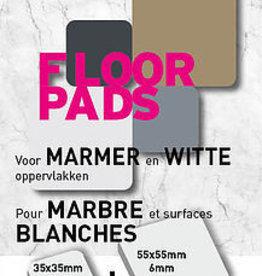 Pot-Pads Flore Pads Wit Marmer Zelfklevend