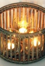 Van der Leeden Windlicht incl. 3 glazen - 25x15cm