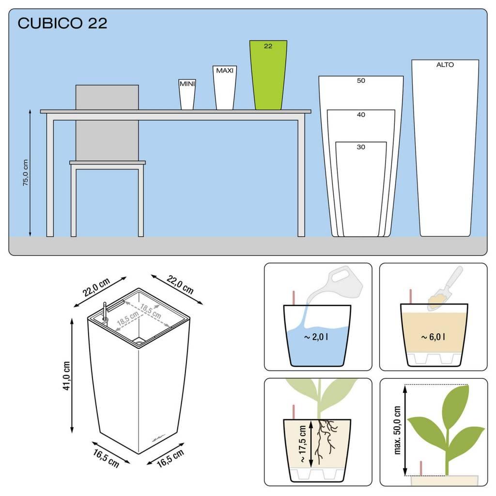 Lechuza Cubico Premium All-in-one-set