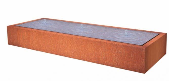 Pottenland Watertafel Rechthoek Cortenstaal
