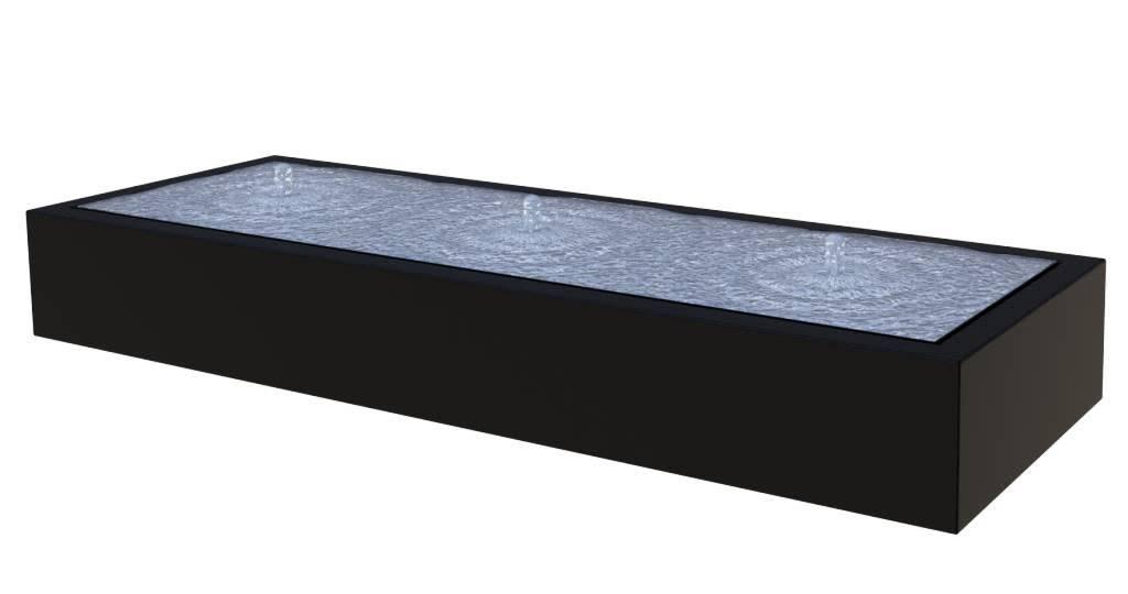 Pottenland Watertafel Rechthoek Aluminium