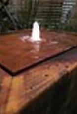Pottenland Watertafel Vierkant Cortenstaal