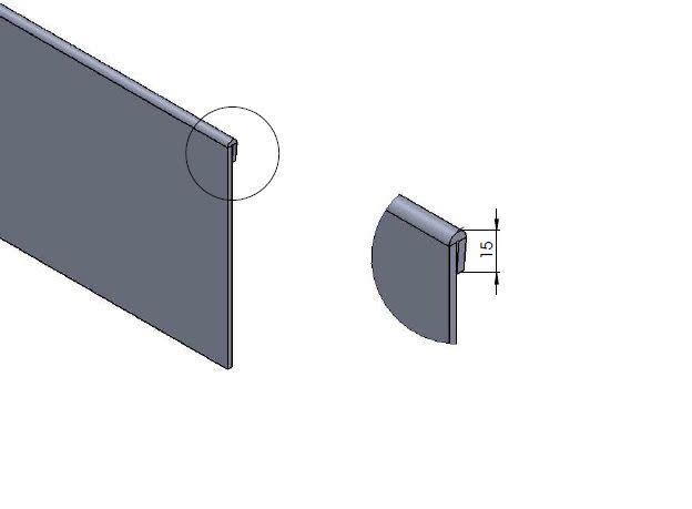Pottenland Hoek Kantopsluiting Cortenstaal Geplet 300x300 mm