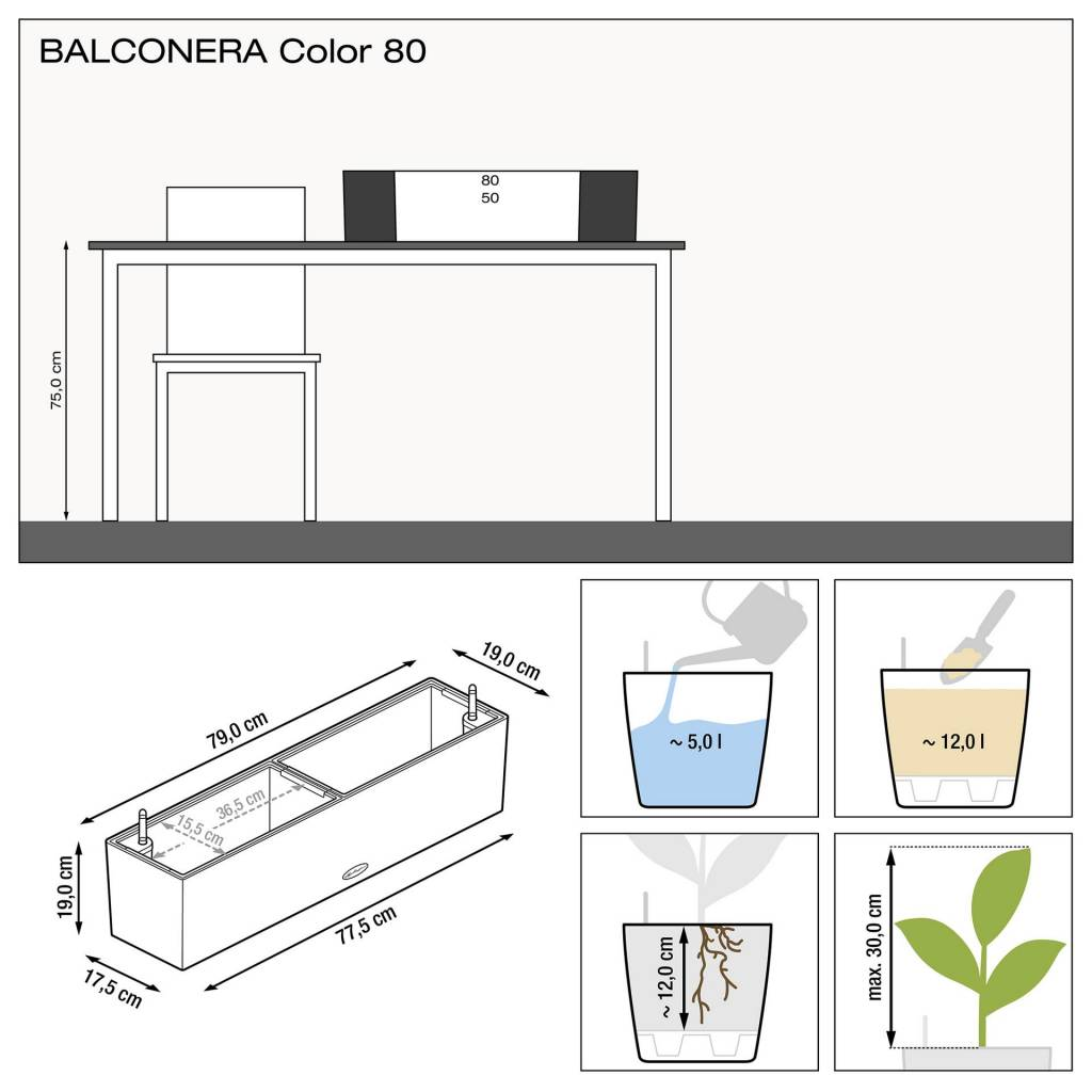 Lechuza Balconera color All-in-one-set