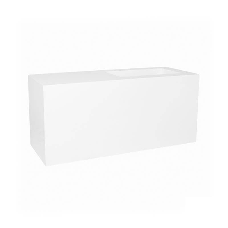 Pottery Pots Jort Seating Glossy White 100 x 40 x 45 cm