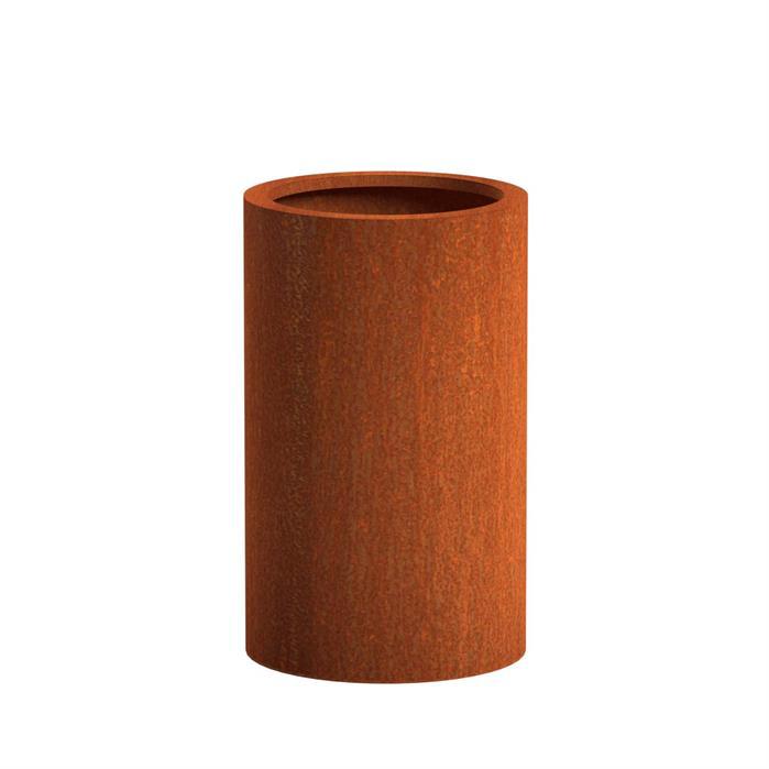 Pottenland Cilinder cortenstaal