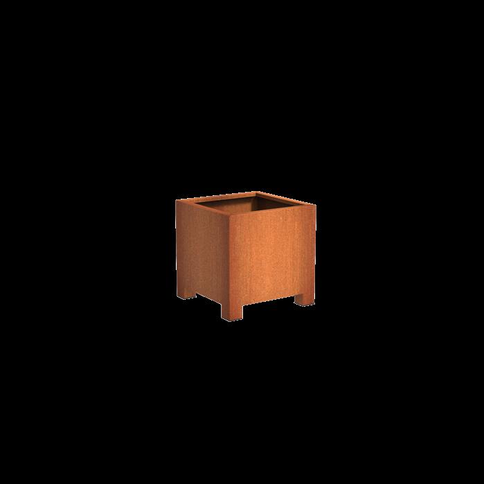 Pottenland Cortenstaal Vierkant met poten