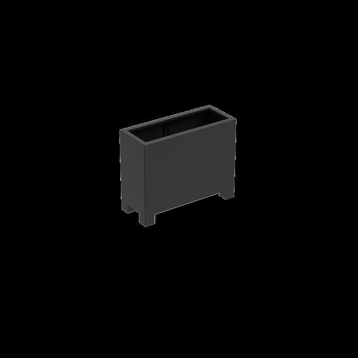 Pottenland Aluminium Rechthoek Met Poten