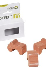Potfeet Whitewash Box of 3PCS