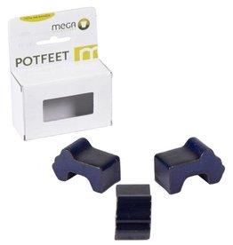 Glazed Potfeet Blue Box of 3PCS