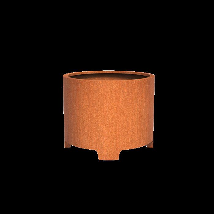 Pottenland Cilinder Cortenstaal met poten