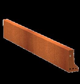 Pottenland Keerwand cortenstaal recht 150 x 20 cm
