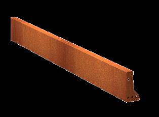 Pottenland Keerwand cortenstaal recht 200 x 20 cm