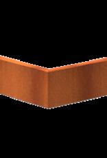 Pottenland Keerwand cortenstaal buitenhoek 50 x 50 x 20 cm