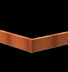 Pottenland Keerwand cortenstaal buitenhoek 100 x 100 x 20 cm