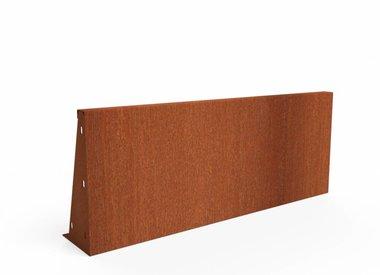 Keerwand Cortenstaal 20 cm hoog